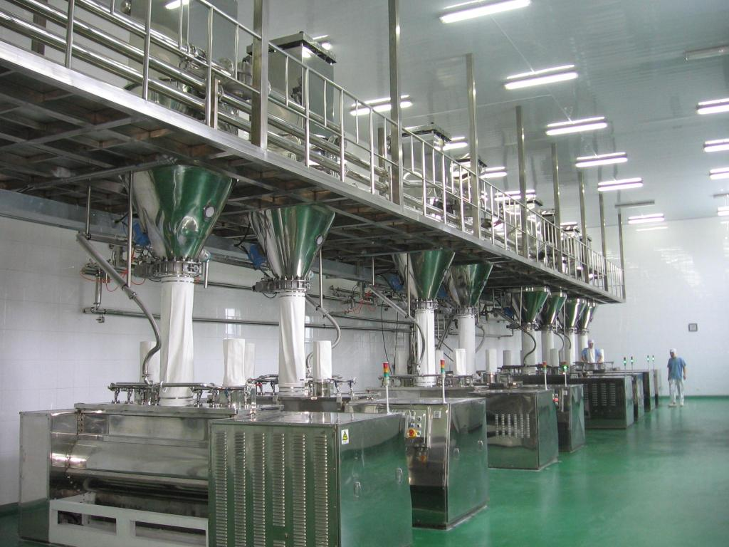 Automatic instant noodle making machine line