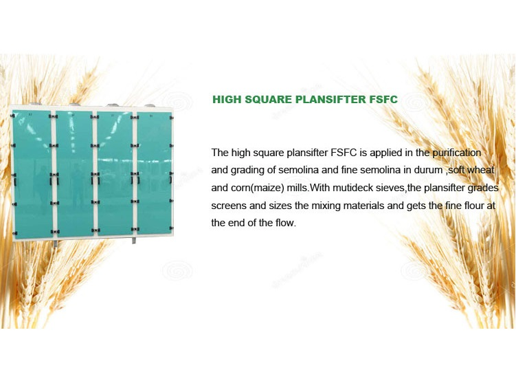 High Quality wheat corn flour Square Plansifter, Plansifter for Wheat Flour