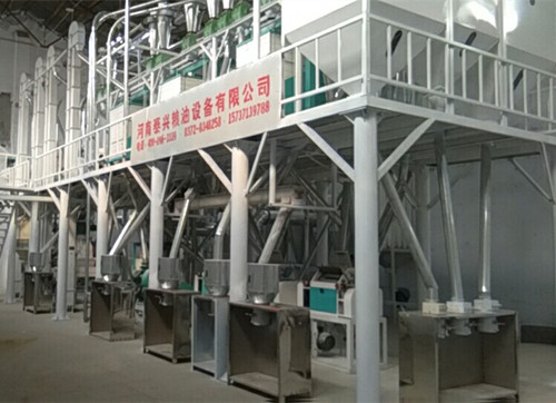 50ton per day corn flour production line equipment has been installed successful