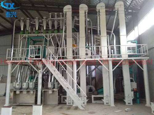 15 ton corn production line corn flour milling machine installation