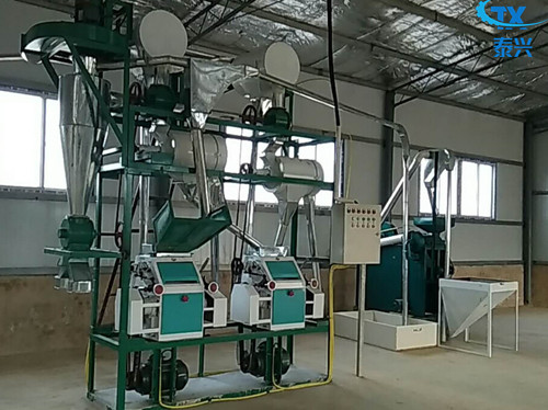 15ton Corn grits equipment maize Maize processing machinery in Jiangsu