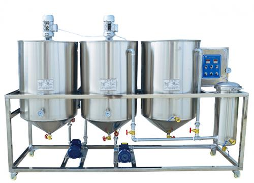 Small vegetable oil refinery machine